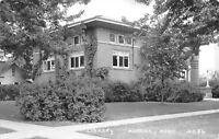 Aurora Nebraska~Carnegie Public Library~Real Photo Postcard c1950 RPPC