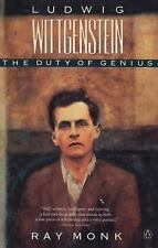 Ludwig Wittgenstein : The Duty of Genius by Ray Monk (1991, Paperback, Reprint)