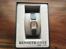 New Kenneth Cole Womens BOEING Watch With Black Leather Band