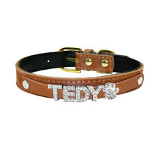 Small Personalized Dog Collar Padded Puppy With Pendant Customized Name&Charm