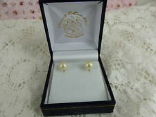 Screw Back (non-pierced) Yellow Gold Fine Pearl Earrings