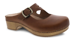 Dansko Britney Tan Oiled Pull Up Leather Clog Slip-on Women's EU sizes 36-42/NEW