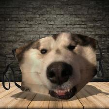 Alaskan Malamute Dog Lover Face Mask Adult Face Mask 3D Reusable