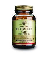 """Solgar alta potencia de vitamina del complejo B."""" 50"""" 50 cápsulas vegetales"""