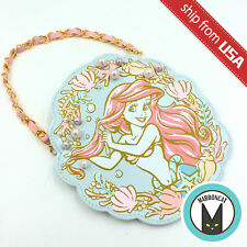 Japan Tokyo Disneyland Disney Little Mermaid Ariel Pearl Coin Purse Pass Holder