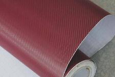 3D Folie Carbonfolie Klebefolie WEINROT Carbon f. Auto, laptop, Handy 10 x 100cm