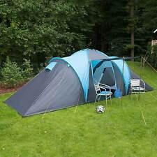 skandika Hammerfest 6 Person/Man Family Tent Camping Dome Blue Canopy New
