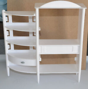 Vintage Barbie ENTERTAINMENT CONSOLE FOR TV & STEREO FOR DIORAMA 1:6 SCALE WHITE
