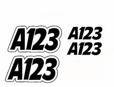 Autograss Numbers Any Class Door Signs Grass Track Graphics NASA
