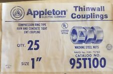 "Appleton 95T100 rain tight 1"" EMT coupling"