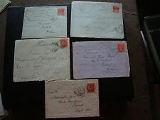 FRANCE - 5 enveloppes 1931/1932 (cy72) french