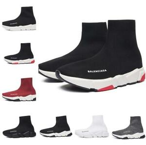 Men's Women's Designer Style Knit Speed Sock Runner Trainers Sneakers shoes UK