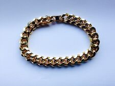 "Bracelet Curb Chain Link Heavy Rhodium Gold Plated 8"" Unisex Free Shipping New"
