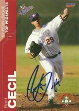 2007 Auburn Doubledays BRETT CECIL Signed Card autograph BLUE JAYS MARINERS