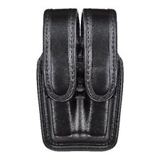 Bianchi 7944 Slimline Double Mag Pouch, Hi Gloss Black w/ Chrome Snap, For Gl...