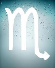 Adesivi adesivo sticker segno zodiacale astrologia macbook mac scorpione bianco
