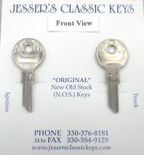 Vintage BASCO GV-2 Pair Round Headed NOS Keys 1930's Dusenberg Nash Indian