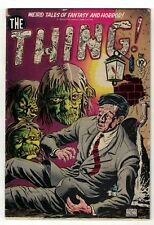 Song Hits THE THING  issue 1 VGF 5.0 Pre Code Horror Golden age 1952 Creature