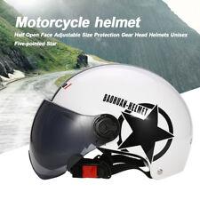 Motorcycle Half Open Face Helmet Motor Bike Adjustable Cruiser Sun Visor Helmets