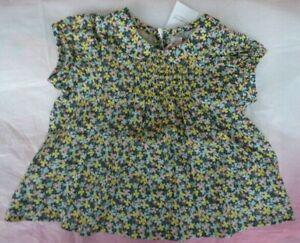 French Bonpoint Liberty print smock top 3M 6M floral lawn cotton mini dress BABY