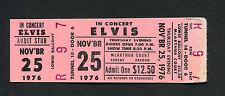 1976 Elvis Presley Unused Full Concert Ticket Eugene OR The King of Rock & Roll