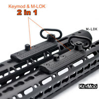 Keymod&M-lok Multi-function Rail Mount Adapter With 1.25'' QD Sling Swivel Sling