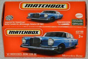 Matchbox Power Grabs 2021 #43 1962 Mercedes-Benz 220 SE NIB GXN60