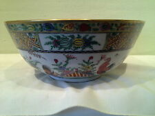 """A Chinese Rooster Famille Bowl Decorated in Hong Kong 9 1/4"""" x 3 3/4""""  ca. 1960"""