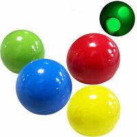 4PCS Sticky Globbles Ball Stress Toy Fluorescent Sticky Wall Target Toys Gift US