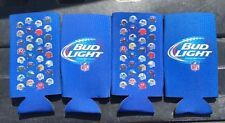 Lot Of 4 New 3D Helmet Nfl Bud Light Beer 24 oz Bottle Can Koozie Coozie Coolie