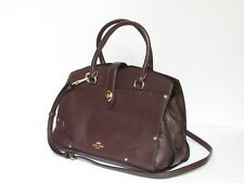 Coach Mercer 30 Oxblood Leather Satchel Shoulder Handbag Purse 37575