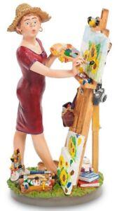 Statuina di artista pittrice Caricatura Figura Comic Parastone Profisti 29 cm