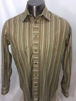 TED BAKER London Men's Striped Button Front Casual Shirt Size 3  Medium