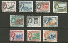 British Virgin Islands QEII 1956 mint stamps