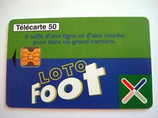 PHONECARD TELECARTE LOTO FOOTBALL LA FRANCAISE DES JEUX FOOT