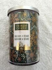 Yankee candle 'Balsam & Cedar' large 2 wick Tumbler Limited Holiday Collection