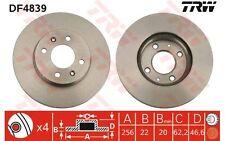 TRW Juego de 2 discos freno Antes 256mm ventilado MERCEDES-BENZ SPRINTER DF4839