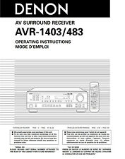 Denon AVR-483 AVR-1403 Receiver Owners Manual