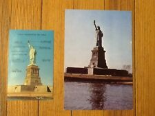 Vintage Mid-century Statue of Liberty postcards Lot NY (2 pc.) c.1950