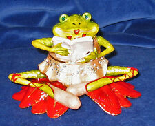 Department 56: Krinkles Poinsettia Frog Jeweled Box New