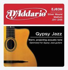 D'Addario EJ83M Gypsy Jazz Silver Wound Medium Acoustic Guitar Strings Ball End