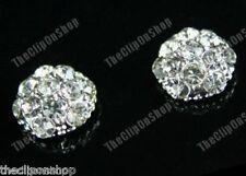A Clip Magnetica cristallo Rhinestone CUPOLA Orecchini Diamante no-pierced BORCHIE