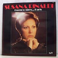 """33 tours SUSANA RINALDI Disque LP 12"""" BUENOS AIRES...PARIS - BARCLAY 91018"""