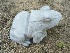 "latex small frog pot foot mold plaster cement casting garden mould 4"" x 3"""