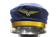 AIRLINE CAPTAIN PILOT STYLE - COSTUME - NOVELTY - ADULT SNAPBACK BALL CAP HAT!