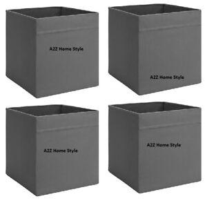 4 x IKEA Grey DRONA Box Fabric Storage Expedite Kallax Shelving Books Toys