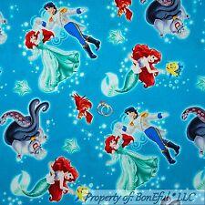 BonEful Fabric FQ Disney Little Mermaid Ariel GIRL Princess Beach Starfish Fish