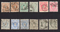Austria Part Set of Stamps c1883 Used (with shades) (41)