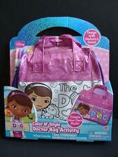 NEW Doc McStuffins Color 'N Style Doctor Bag Activity Set Disney Toy Markers NIP