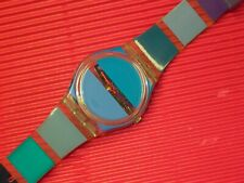 REFURBISHED : Swatch - BLUE PAINTED TIME - GK376 by Stephen Dean